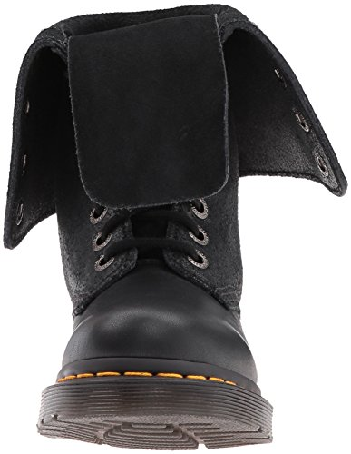 Dr. Martens Hazil Boot Virginia, Scarpe Stringate Basse Brogue Unisex – Adulto Nero