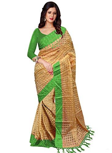 Trendz Women\'s Cotton Green Art Silk Saree(TZ_Green_Art)