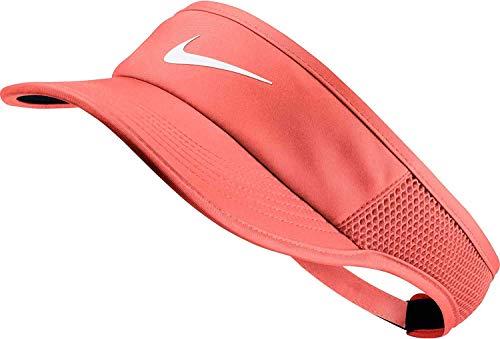 Nike Women's Featherlight AeroBill Visor (Crimson Pulse/Black/White)