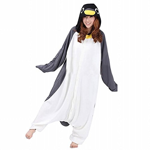 Kostüm Pinguin Frauen - dressfan Unisex Tierpyjamas Erwachsener Pinguin Cosplay Kostüm