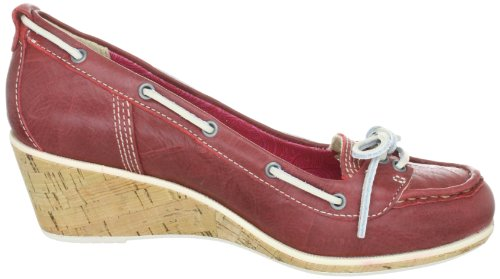 Timberland WHITTIER BOAT WEDGE 42633, Ballerines femme Rouge (TR-B1-Rouge-70)