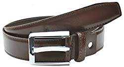 Mens 35 mm 1.3 Wide Prong Buckle Brown Original Leather Belt By Pacific Gold