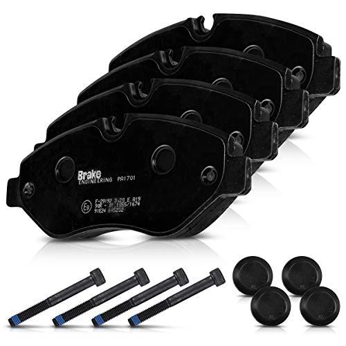 Brake ENGINEERING PA1701 Bremsbelagsatz - 4X Auto Bremsbeläge Bremsklötze für Bremsscheiben Vorderachse