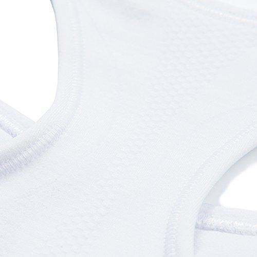 Soutien-gorge/Brassière Sport Femme Lapasa Sans Couture Sans Armature Dos Nageur Cool-tech - Yoga Fitness Jogging Gym Blanc