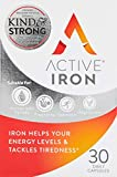 Active Iron Tablets | Non-Constipating | Ferrous Sulphate Iron Supplement | 30 Capsules