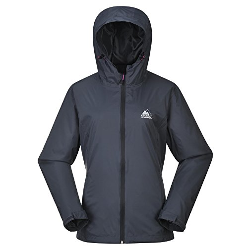 COX SWAIN Damen Outdoor Funktions Regenjacke BREAKER 8.000mm Wassersäule + 5.000mm atmungsaktiv, Colour: Grey/Black Zipper, Size: M