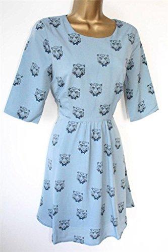 Sugarhill Boutique Robe Tigre bleu Bleu - Bleu