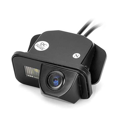 Farb Rückfahrkamera integriert in die Nummernschildbeleuchtung LED Kennzeichenbeleuchtung Kamera mit Distanzlinien für Toyota Corolla/Tarago/ Previa/Wish/ Aiphard Avensis T25 T27 (Led 2011 Corolla)