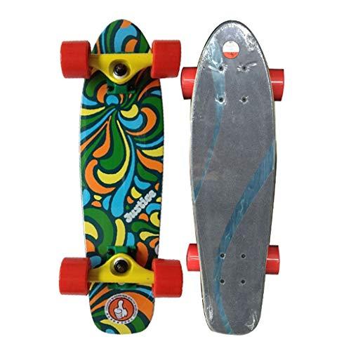 Holz Fischplatte 58cm Professionelle Board Banana Board Ganze Board Anfänger Grau Erwachsene Kinder Universal Skateboard (Color : Gray, Size : 58 * 15.8 * 15CM) -