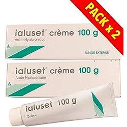 Ialuset Créme Acide Hyaluronique - Lot de 2 Tubes de 100g