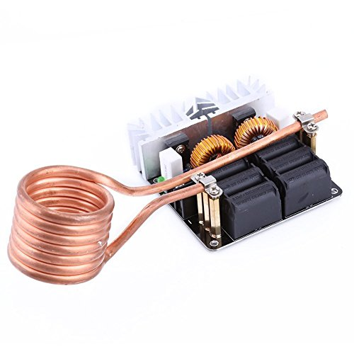 Yosoo 1000W bajo voltaje de inducción calefacción tablero módulo Tesla bobina 12V-48V Flyback Driver calentador bricolaje