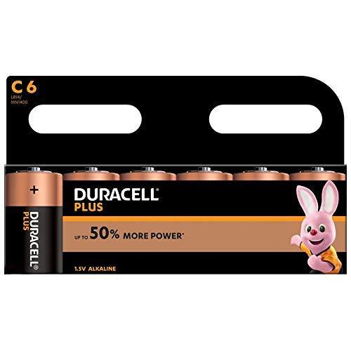 Oferta de Duracell MN1400B6 Plus Power - Pilas tipo C (pack de 6)
