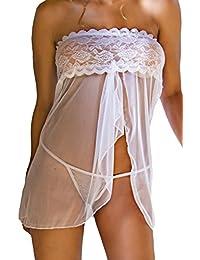 HO-Ersoka bata sensual estilo bandó de tul y encaje incluyendo el string