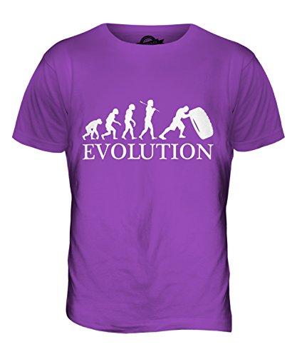 CandyMix Tyre Reifen Flip Evolution Des Menschen Herren T Shirt Violett