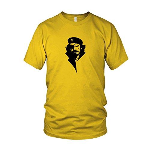 Viva Big Boss - Herren T-Shirt, Größe: XL, Farbe: gelb (Metal Gear Solid 3 Big Boss Kostüm)