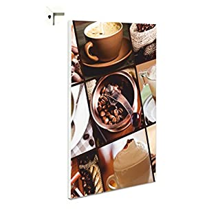 Pinnwand Magnettafel Memoboard Magnettafel Motiv Kaffee (60 x 80 cm)