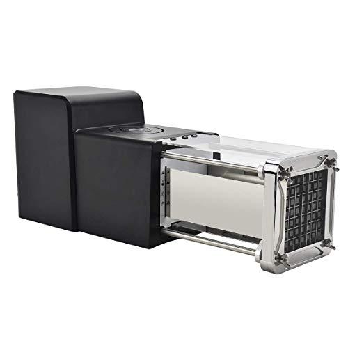 Cortador de patatas fritas electrónico con 2 cuchillas intercambiables