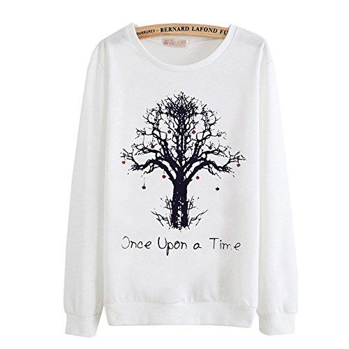 DaBag Felpe da Donna Ragazza Maglia Cartone Animato e Carino Maglione Stampa Sweatshirts Magliette Manica Lunga Top T-shirt Autunno e Inverno n20