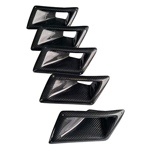 LNIMIKIY Lüftungsschlitz, Karbonfaser, Linke Seite, Auto-Use Carbon Fiber Linke Seite, Auto-Dekoration, Außenbelüftung für Nissan 350Z, Schwarz/Grau, 18.5x10.5cm -