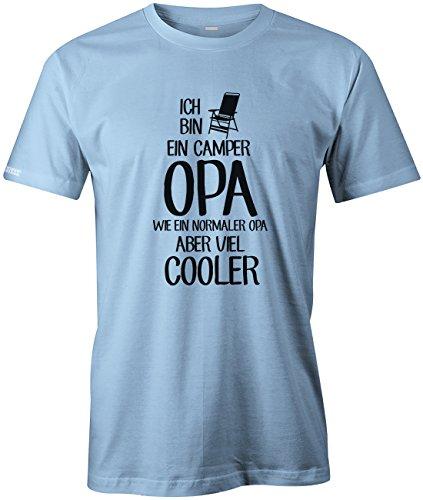 Ich bin ein Camper Opa - Wie ein normaler Opa aber viel cooler - Herren T-SHIRT by Jayess Hellblau