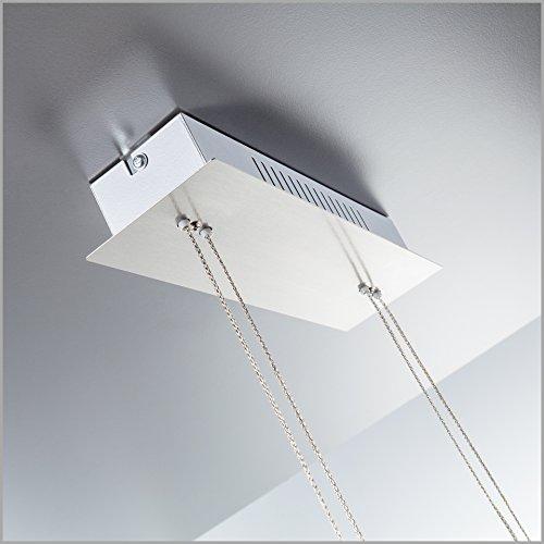 confronta il prezzo Lampadario LED a sospensione I lampada da soffitto per l'illuminazione da interno I luce bianca calda I corpo metallo, nickel opaco I incl. 4 piastre LED 4 W I 230 V I IP20 miglior prezzo