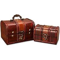 Preisvergleich für Hehh Tuoba Fish Vintage-Box Holzkiste Abschließbar Antiken Holz Schmuck Aufbewahrungsbox