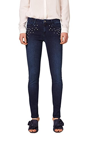 ESPRIT Collection Damen Slim Jeans 018EO1B015, Blau (Blue Dark Wash 901), 25/30 (Frauen Jeans Unter $25)
