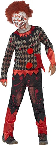 Smiffys Jungen Halloween Scary Fancy Circus Fun Party Deluxe Zombie Clown Kostüm Outfit
