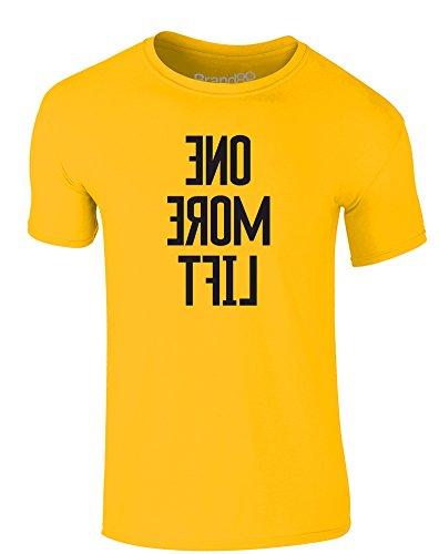 Brand88 - One More Lift, Erwachsene Gedrucktes T-Shirt Gänseblümchen-Gelb/Schwarz