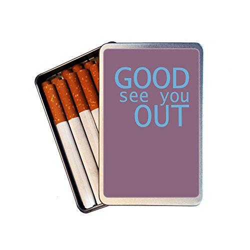 """Zigarettendose / Zigarettenetui Nr 5548 für 14 Zigaretten - Mit magnetischem Deckelmotiv (Kühlschrankmagnet) zum Wechseln +++ GOOD SEE YOU OUT +++ GUT SIEHST DU AUS +++ Von tom bäcker aus der Reihe """"Engleutsch for Oncatcher"""" - Denglisch (Zigarettendose / Zigarettenetui)"""