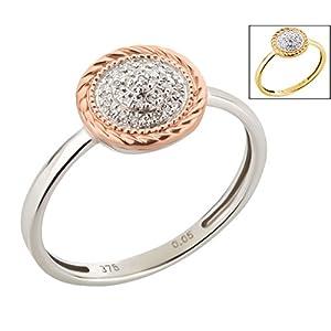 Ardeo Aurum Damenring 375 Gold 0,05 ct Diamant