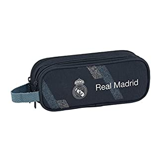 Safta- Portatodo Doble Real Madrid, Color Azul, 21 cm (811834513)