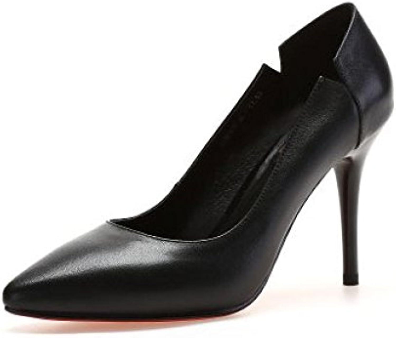 DKFJKI Talons Aiguilles en Cuir pour Femmes Chaussures Basses Chaussures RobesB07CQM8F36Parent de Travail Professionnel RobesB07CQM8F36Parent Chaussures 91cf92
