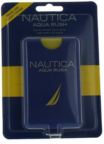 Nautica Aqua Rush by Nautica for Men Mini EDT Cologne Spray 0.67 oz. New in Box by Nautica