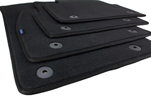 kfzpremiumteile24 Fußmatten/Velours Automatten Original Qualität Stoffmatten 4-teilig schwarz