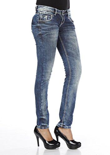Cipo & Baxx - Jeans - Femme Bleu - Bleu