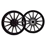 BikenWear NW-AWHL-9 Front and Rear Alloy Wheel for Royal Enfield Classic 500cc (Set of 2, Black)