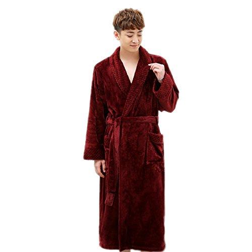 CHUNHUA Automne coloré hommes et femmes ouatine de corail robe de bain peignoir polaire services à domicile pyjamas , e , s/m c
