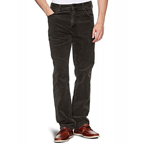 Wrangler Herren Arizona Reguläre Passform Gerades Bein Stretch Kord Zip Fly - Schwarz - Schwarz, 36-32 - Bein Stretch Kord