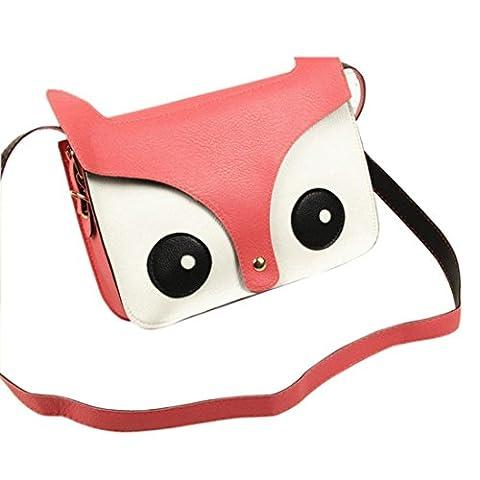 Sac à main, FeiTong bande dessinée sacs à main de femmes de fille renard sac à bandoulière de sacoche spéciale (Rose)