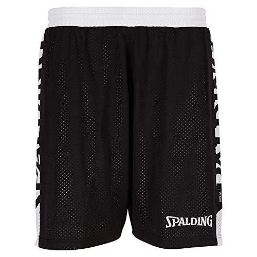 Spalding Damen Essential Reversible Shorts 4HER Hose, schwarz/Weiß, L