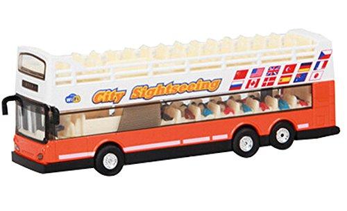 Allié touristiques Bus modèle de voiture Voitures Garçons Cadeaux, Orange