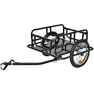 vidaXL Remorque de bicyclette 50 kg Noire Remorque pour vélo Chariot Bricolage