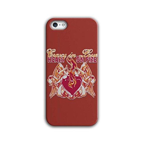 Herz Auf Feuer Valentine Auf Feuer Lust iPhone 5 / 5S Hülle | Wellcoda (Feuer Frau Halloween Kostüm)