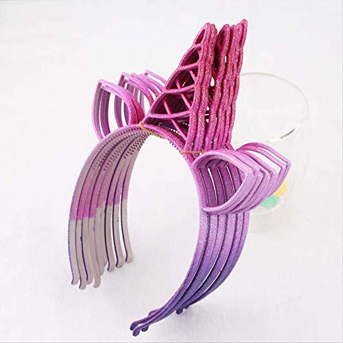 Diadema WYHH diseño unicornio purpurina, diadema