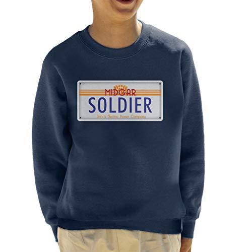 Cloud City 7 Final Fantasy Midgar Soldier License Plate Kid's Sweatshirt