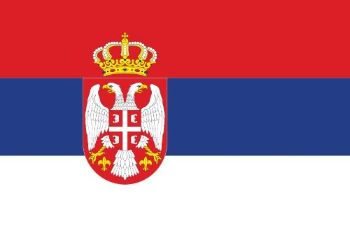 Outdoor Flagge, Banner, Fahne Serbien mit Wappen 90 * 150 cm - Outdoor-flagge