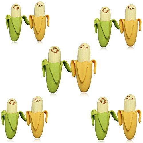 10 psc novità bella Fermo Banana Fruit gomma di matita - Confronta prezzi