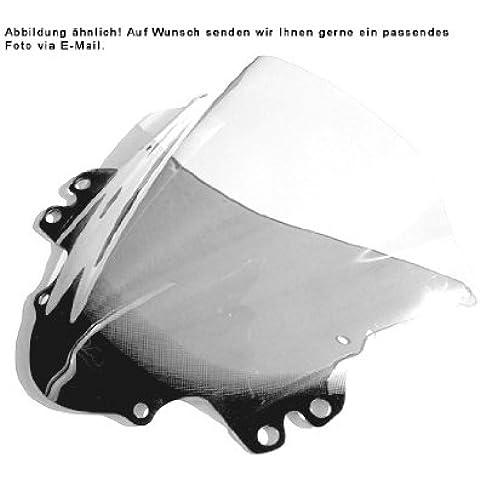 Cupula MRA Pantalla Touring transparente SUZUKI GSX 600 F 98, SUZUKI GSX 750 F 98- La pantalla Turismo tiene la misma forma que al Original pero lleva un deflector de viento orientado hacia arriba en el extremo final y a lo largo de toda su anchura. Así se desvía la presión del viento sobre el piloto, permitiendo un viaje relajado en recorridos largos. En algunos modelos de pantalla elevada, el deflector de viento viene sólo como una prolongación y no está orientado hacia arriba a fin
