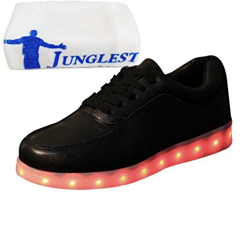 [Present:kleines Handtuch]JUNGLEST® Leuchtende LED Schuhe Sneaker T Schwarz